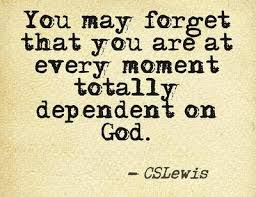 Totally dependent on God